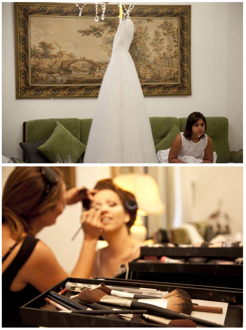 wedding preparation shooting, make up
