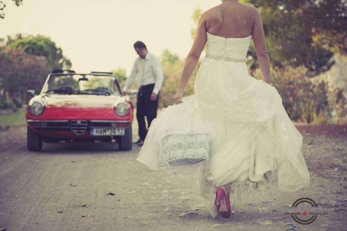 ρετρό φωτογράφηση γάμου