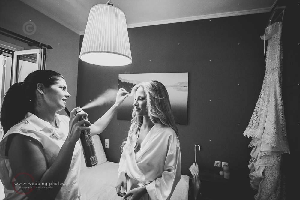bride praparation προετοιμασια νύφης