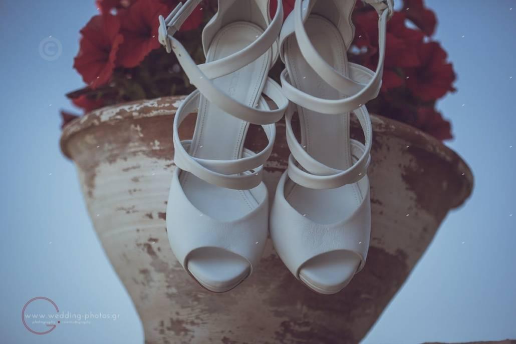 λευκά νυφικά παπούτσια