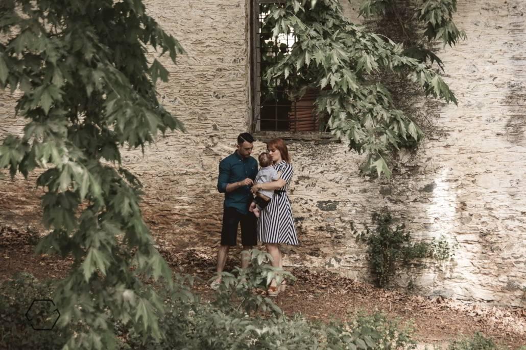 vintage οικογενειακή βάφτιση