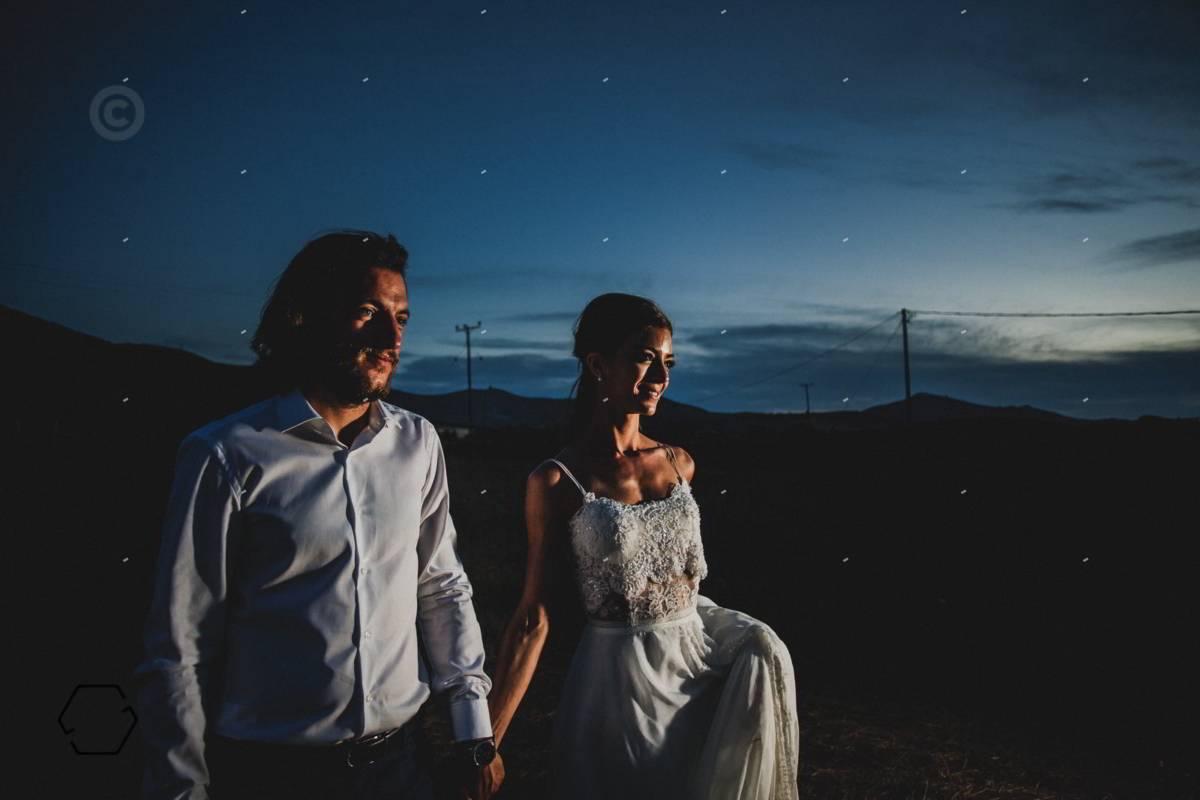 βραδυνή φωτογράφιση γάμου