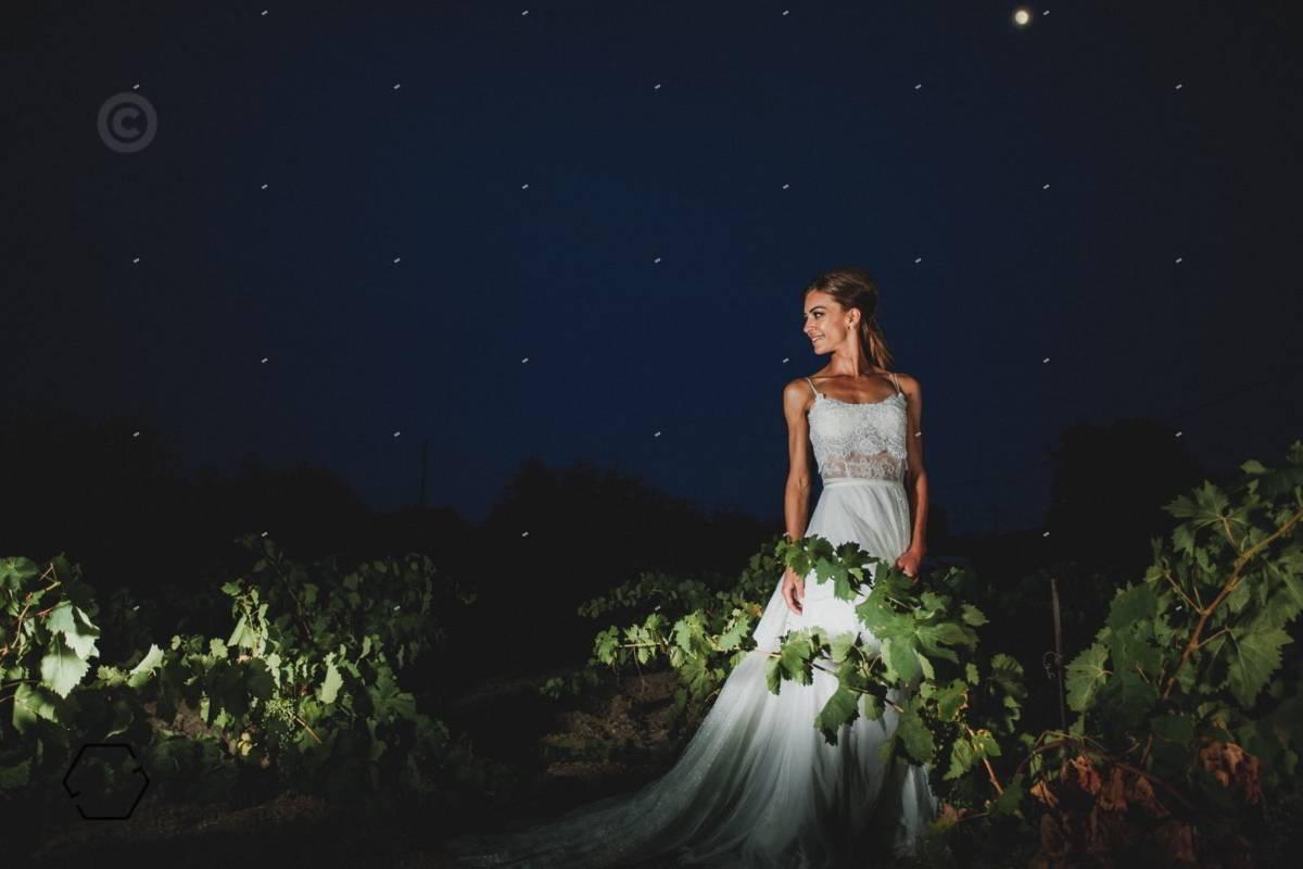φωτογράφιση γάμου σε αμπελώνα