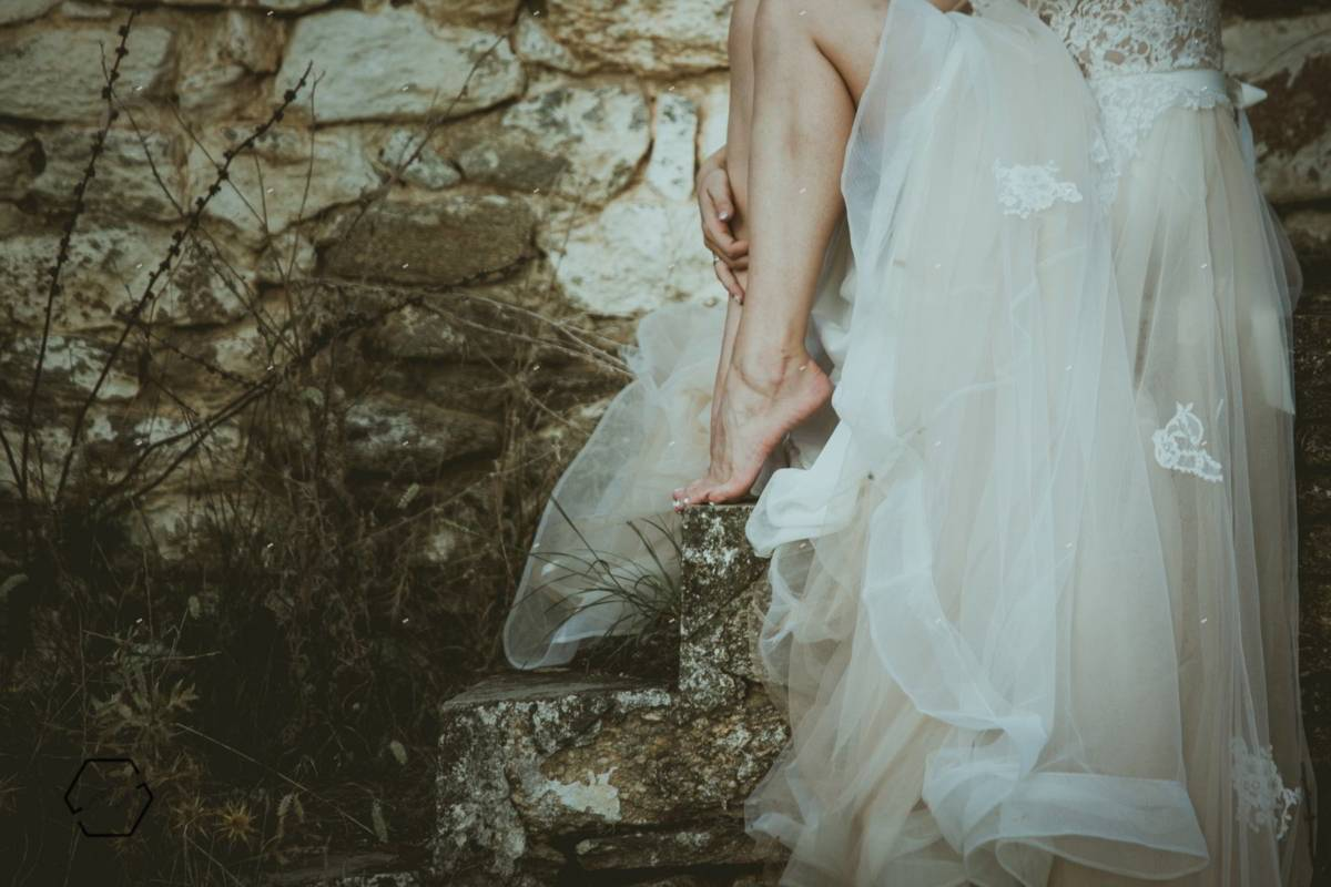 φωτογραφίες γάμων, πόδια νύφης