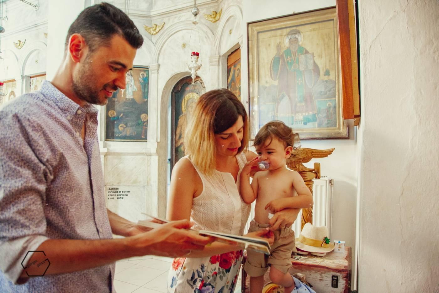 φωτογράφηση βάπτισης στην Αμοργό