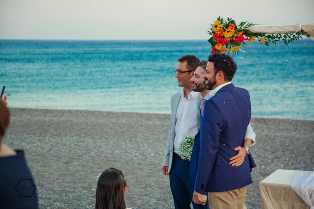 wedding on the beach, crete