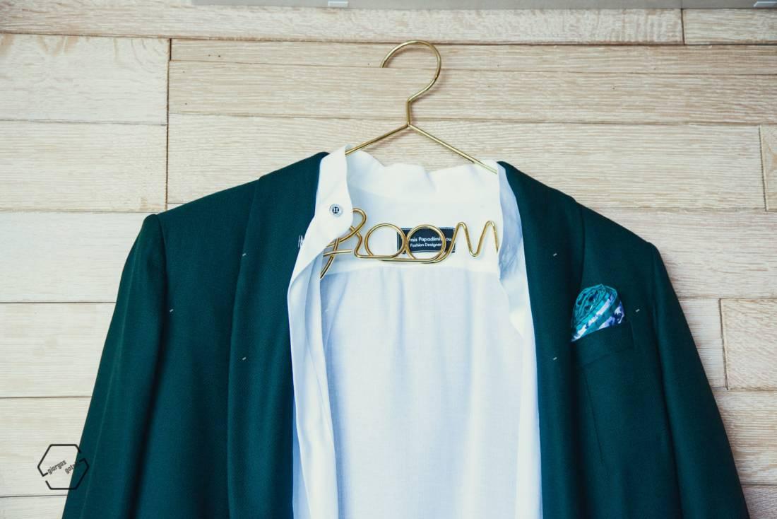 πράσινο σακάκι γαμπρού