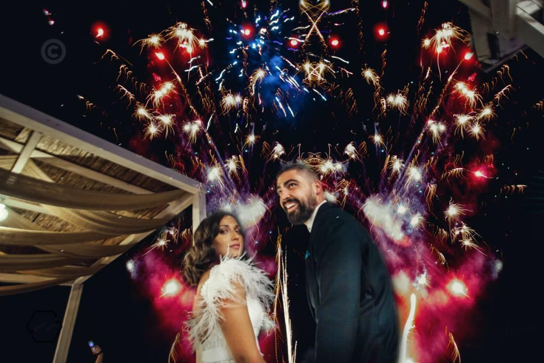 πυροτεχνήματα σε γάμο Χαλκιδική