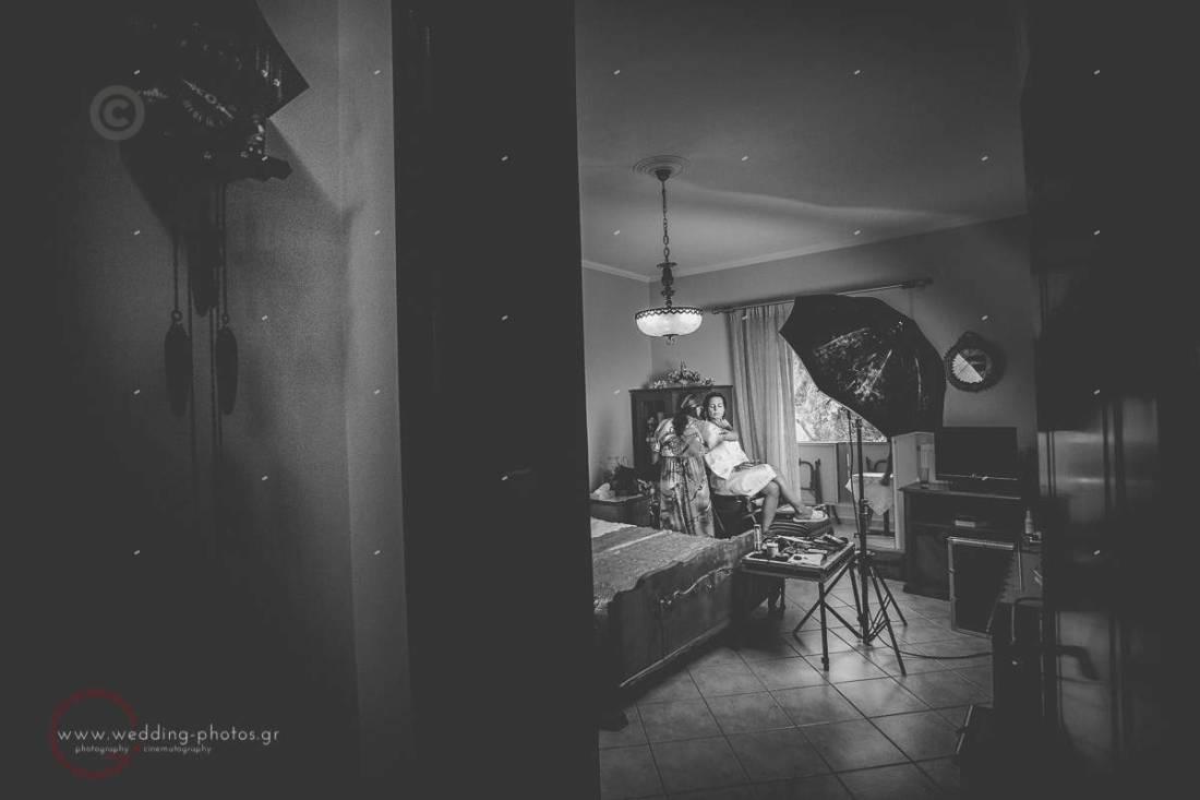 προετοιμασία νύφης, ασπρόμαυρες εικόνες