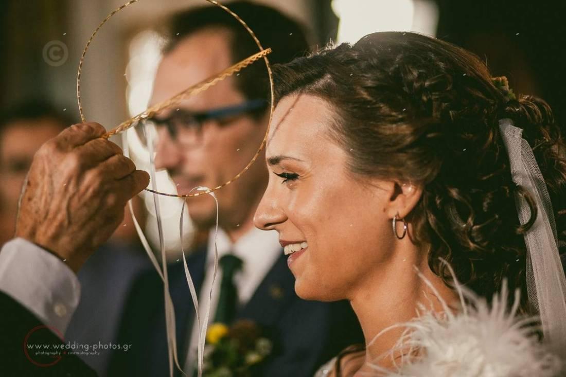 φωτογράφιση γάμου, στέφανα, νύφη