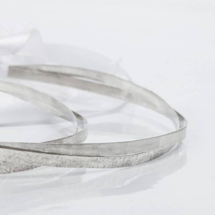 απλά σφυρήλατα χειροποίητα στέφανα γάμου ribbon