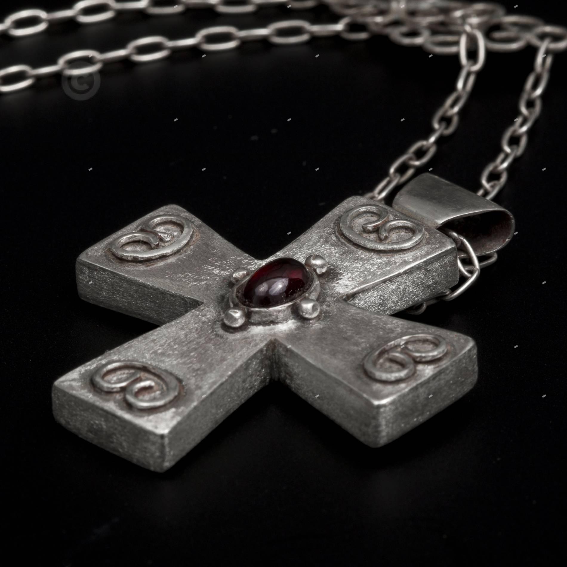 βαπτιστικός χειροποίτος βυζαντινός σταυρός