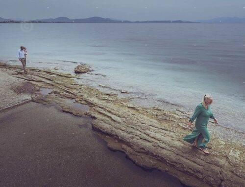 wedding and christening on sea soul beach, Nea Makri