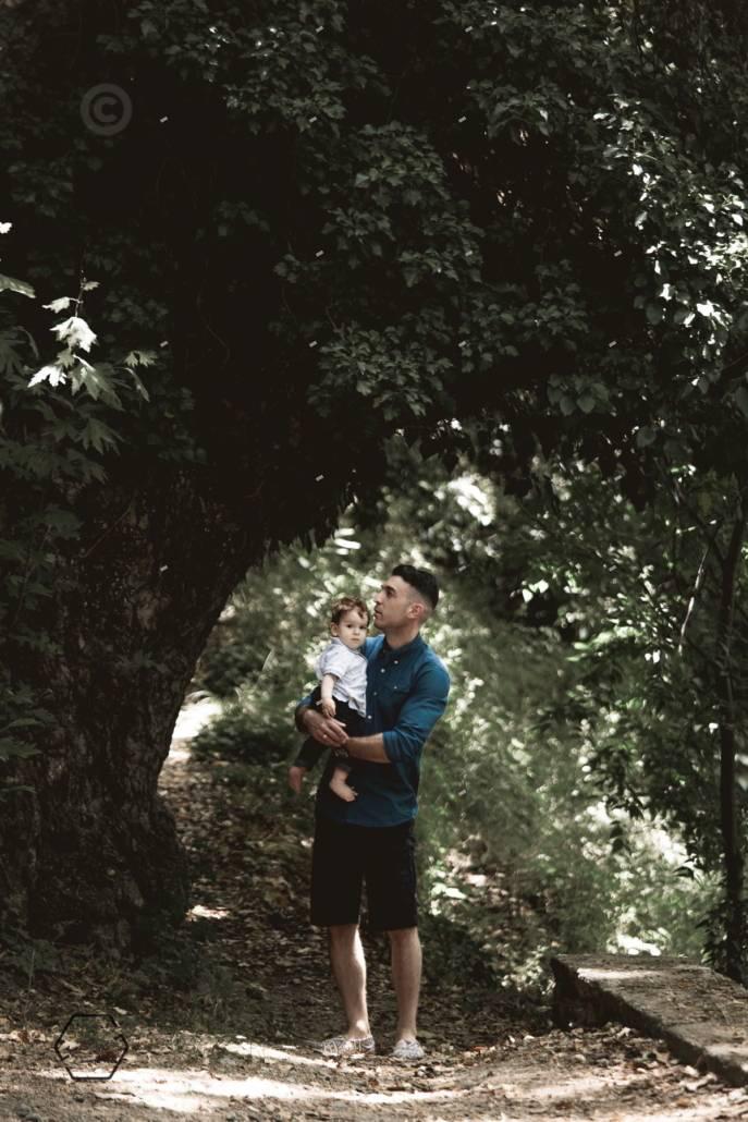 οικογενειακή φωτογράφιση στη φύση