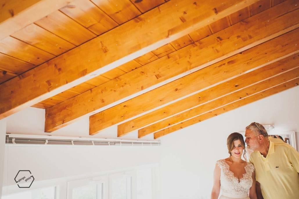 bride preparation νύφη και πατέρας
