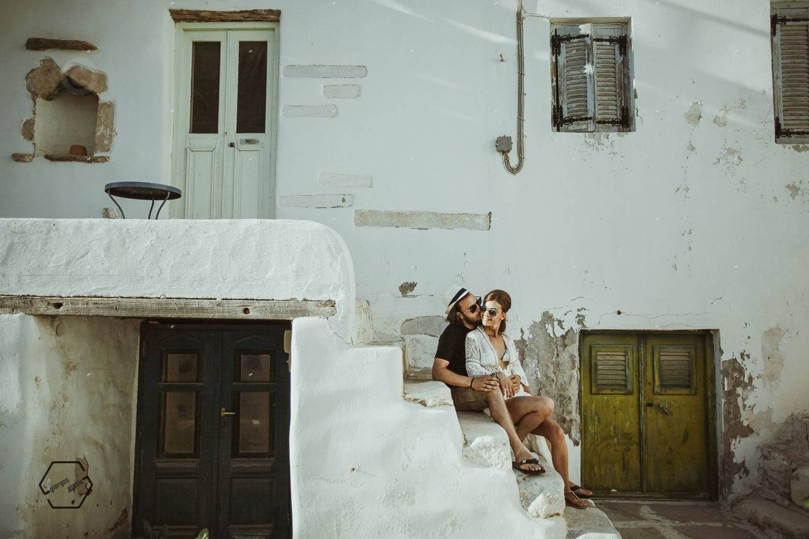 pre wedding in greek island
