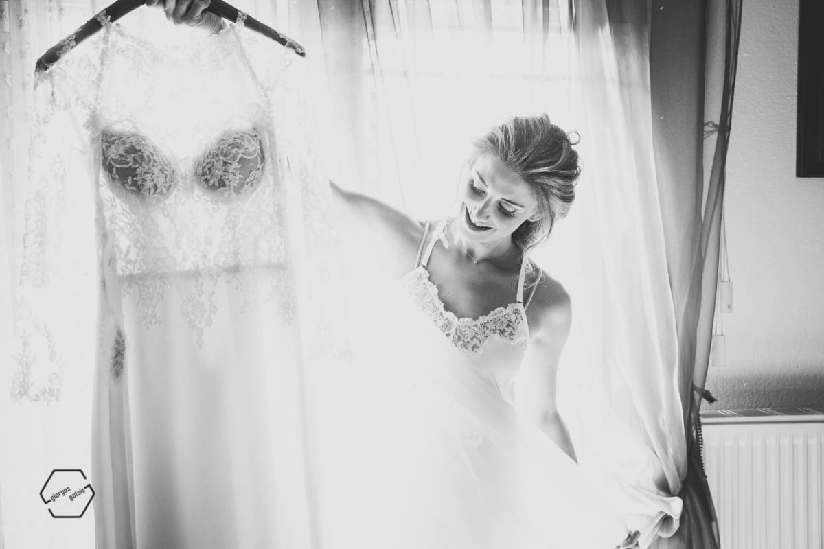 bridal portraits bw